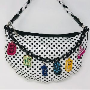 Betsey Johnson Betseyville Polka Dot Charm Handbag